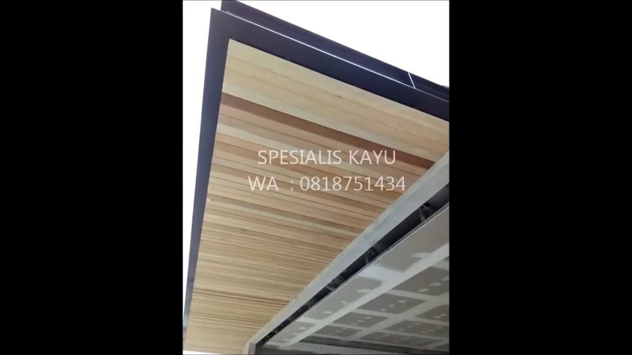 Proses Pemasangan Lambersering Kayu Plafon Kayu Wood Specialist