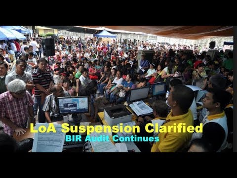 BIR 2018 Letters of Authority Suspension Clarified (Emelino T Maestro)