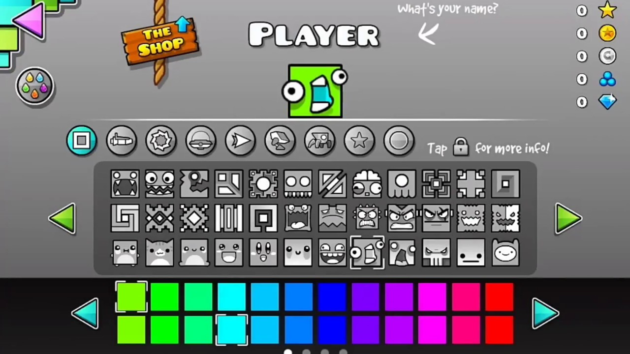 Geometry Dash 2 111 All Icons Hack Download For Android Youtube