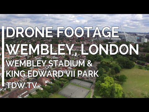 Drone Footage - Wembley Stadium and King Edward VII Park London - 2016 thumbnail
