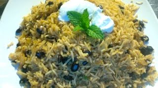 Mexican Rice with Black Beans-Indo Mexican Lunch Box Recipe