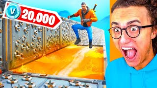 WIN 20.000 FORTNITE VBUCKS SI vous pouvez COMPLETE THIS DEATHRUN PARKOUR CHALLENGE-Fortnite