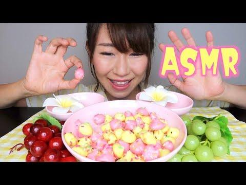 【ASMR】エヴァ弐号機カラーのメレンゲクッキー作って食べる音