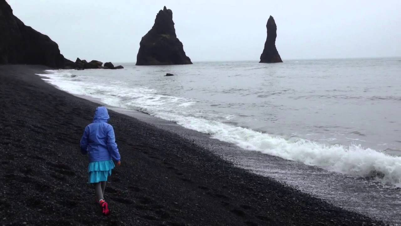 black sand beach near vik iceland 2 youtube. Black Bedroom Furniture Sets. Home Design Ideas