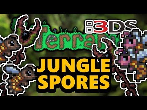 Terraria 3DS - Part 31: JUNGLE SPORES (Nintendo 3DS Playthrough)
