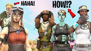 I met a TOXIC SQUAD as a NO SKIN, then Showed my RENEGADE RAIDER and they FREAKED OUT!..