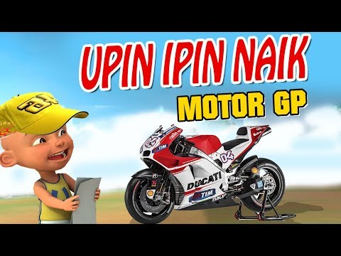 download Upin ipin Naik Moto GP , ipin senang GTA Lucu