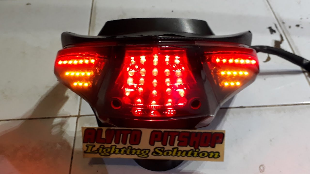 Lampu Rem Beat Karbu Custom Stoplamp Beat Old Youtube