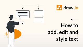 How To Add Edit And Style Labels And Text In Draw Io Diagrams