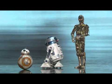 C 3PO, R2 D2, & BB 8 @ The Oscars 2016 'Don't leave Me' HD