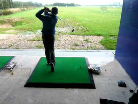 John Hoskison Down The Line Golf Swing With Six Iron Youtube