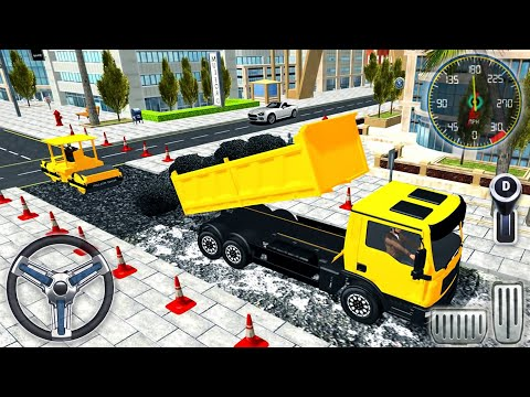 Real City Road Building Construction 3D - Heavy Excavator Driver Simulator - Android GamePlay