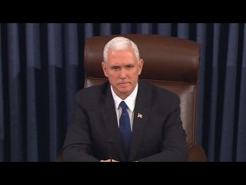 VP Pence casts historic vote to break Senate tie over DeVos