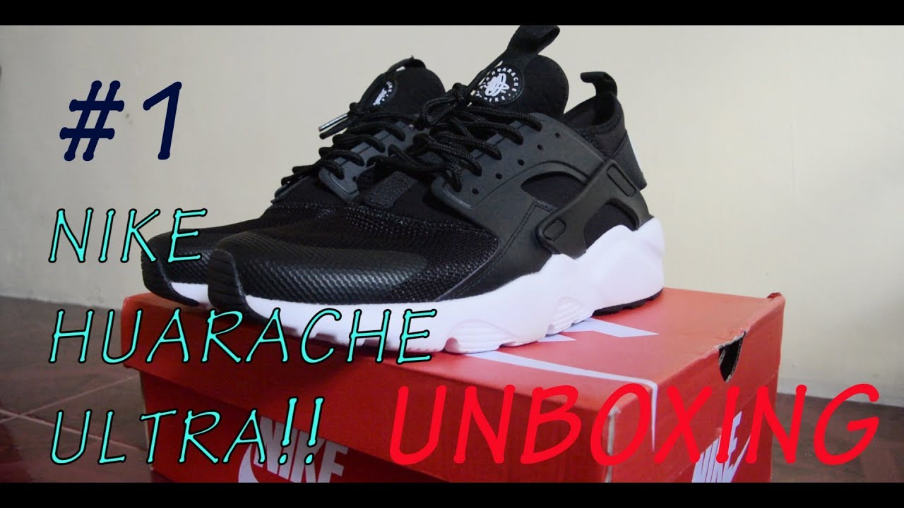 fcd78e7c046 Nike Air Huarache Run Ultra Men Unboxing Details + On feet - YouTube