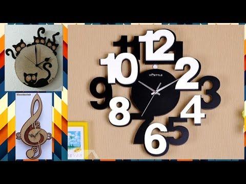 Unique and stylish handmade wall clock design ideas