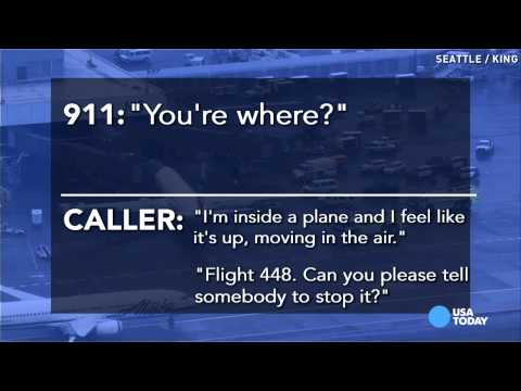 Airport worker's 911 call: 'I'm trapped in this plane'
