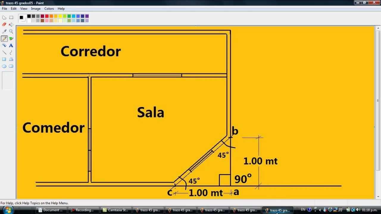 drywall lima construcci n como hacer un trazo de 45 grados