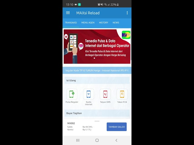 Cara Isi Ulang Pulsa di Aplikasi Android TRXKU - MAXsi Reload