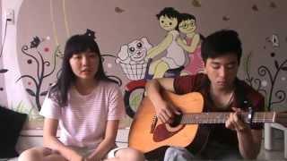 Khoảng lặng (Guitar cover by Lan Anh Blb & Vinh Harmonic :v )