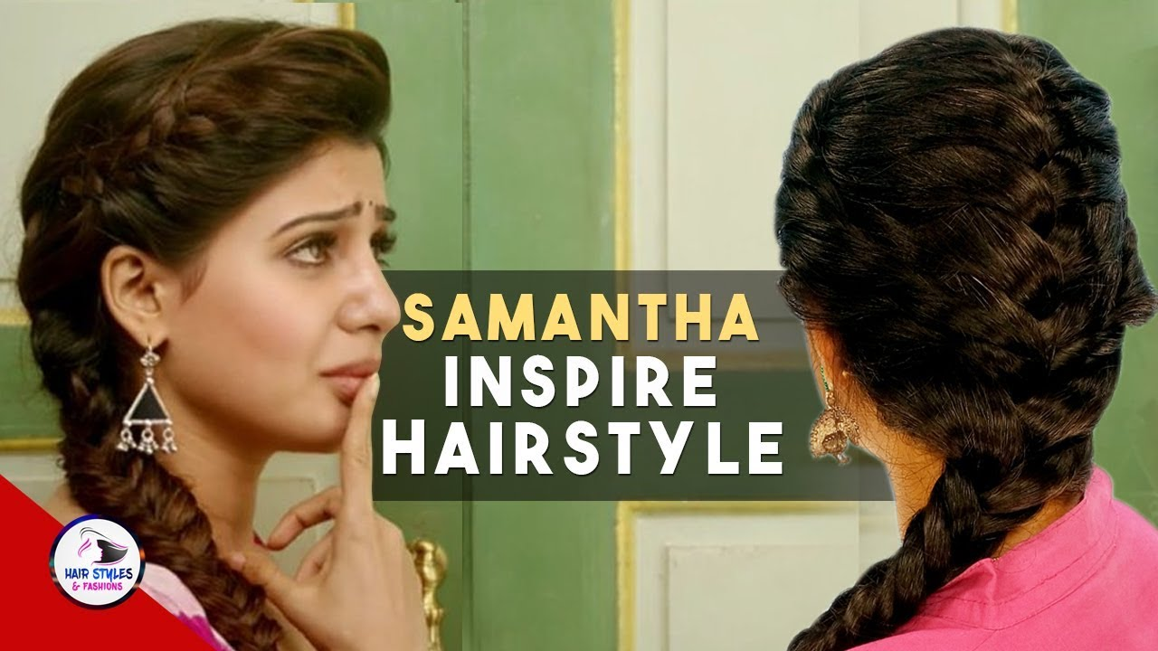 9535a25cda97f5 Actress Samantha inspired Hairstyle Tutorial   samantha u turn movie  hairstyles   Party Hairstyle