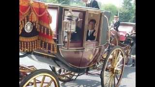 馬車に乗り信任状捧呈式に向う駐日韓国大使 2013.Jul.10