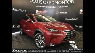 Red 2015 Lexus NX 200t Luxury Package Review Edmonton Alberta - Lexus of Edmonton