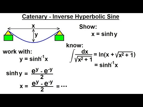 Mechanical Engineering: Ch 10: Forces on Cables (16 of 33) Catenary - Inverse Hyperbolic Sine