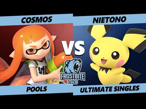 Frostbite 2020 SSBU Pools - Cosmos (Inkling) Vs. DNG | Nietono (Pichu) Ultimate Singles - SSBU