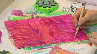 Paste Paper Is Fabulous Lets Get Started - HowToGetCreative.com with Barb Owen