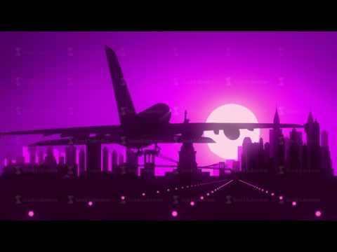New York Violet Purple USA America Skyline Sunrise Landing