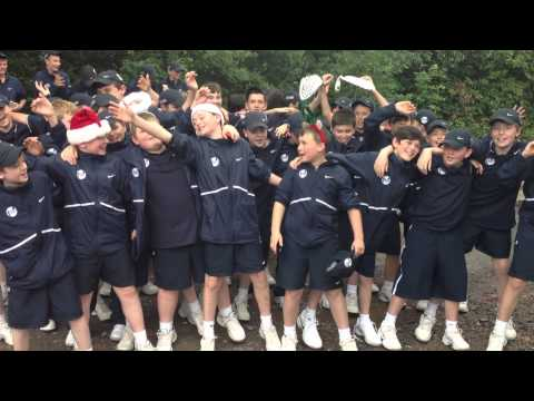 The Ball Crew at the Aegon Classic sing a Christmas song