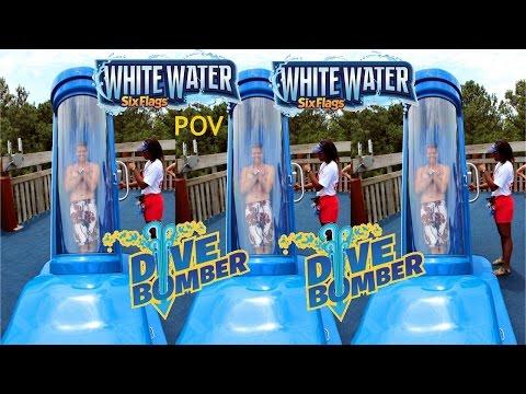 Dive Bomber POV HD Music Promo Six Flags White Water Off-Ride Capsule Water Slide GoPro Atlanta