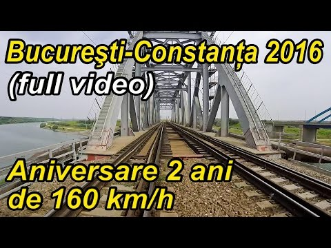 Bucuresti-Constanta 2016,2 ani de 160 km/h,full rear view,trainride,Zugfahrt
