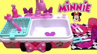 Minnie Magical Sink toys review Happy Helpers Sink really works!