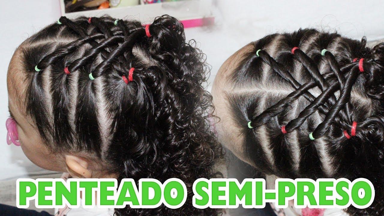 Penteado Infantil Semi Preso Para Cabelos Cacheados 21 Sr E Sra Martinez