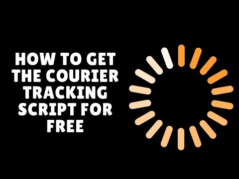 How to get the courier tracking script for free - YouTube