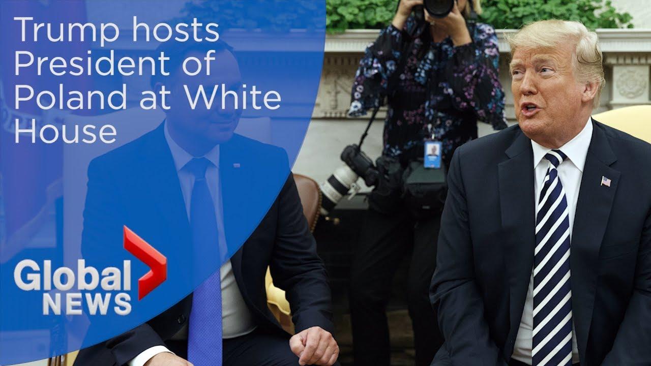 U.S. President Trump hosts president of Poland