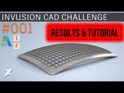 Invusion CAD Challenge #001 RESULTS! - FUSION 360 & INVENTOR