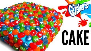 THE GUSHERS CAKE DIY! - How To Make Gushers Candy Filled Cake