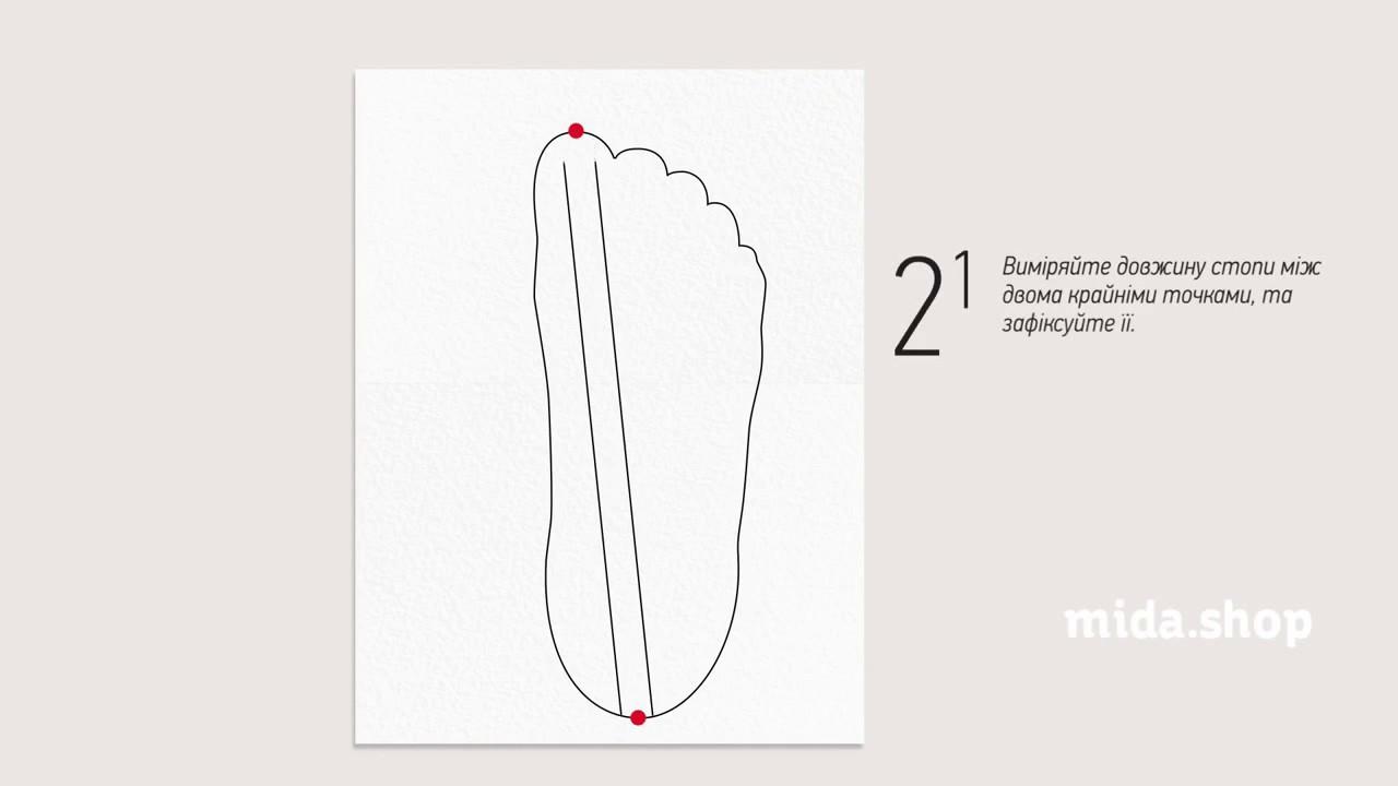Определите свой размер обуви в сантиметрах, чтобы выбрать подходящую обувь в