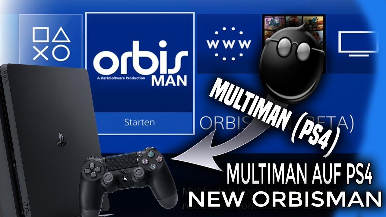 Mutiman auf Ps4 ? (Ps4 Jailbreak Multiman Pkg -orbisman 5 05) Spoof  Firmware +Kostenlosen Download