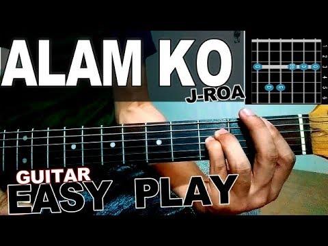 John roa - ALAM KO-(easy play) GUITAR LESSON