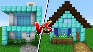 Minecraft: QUEM CONSTRÓI A CASA DE DIAMANTE MAIS BONITA?!