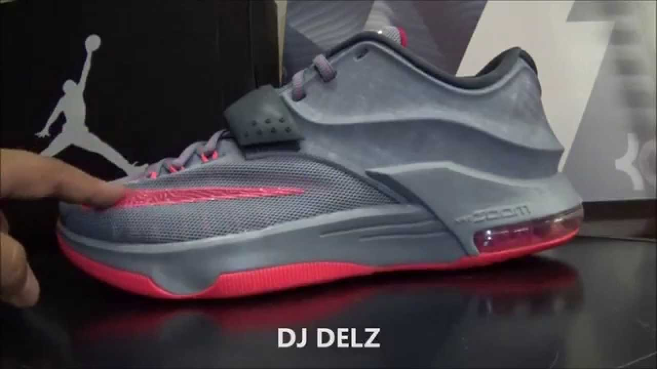 Nike KD 7 Calm Before The Storm Grey Hyper Punch Sneaker Review With ... bc5750a3c