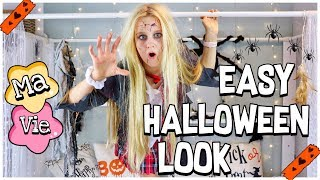 EINFACHER HALLOWEEN LOOK ! MAKE UP & KOSTÜM & ZIMMER DEKORIEREN | MaVie Noelle
