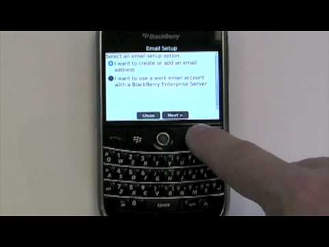 How to setup Blackberry Email