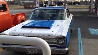 "Tommy ""CLINGUS"" Grigaliunas 65 Plymouth pulling into wawa 2-24-13"