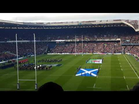 Flower of Scotland  – vs Wales ( 6 Rugby nations at Murrayfield 25.02.17)