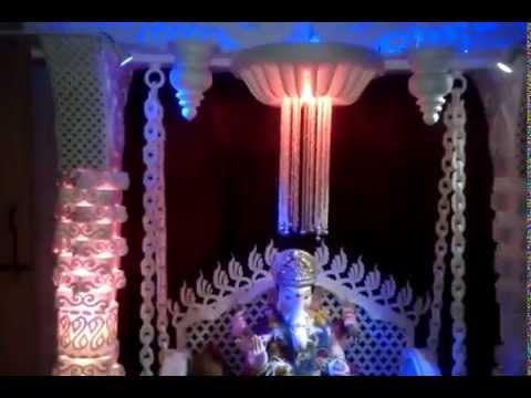 Ganesha Ganpati Thermocal Decoration 2014 At My Home