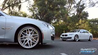 A Pair Of BMW 7 Series On Rennen Forged Wheels By California Wheels